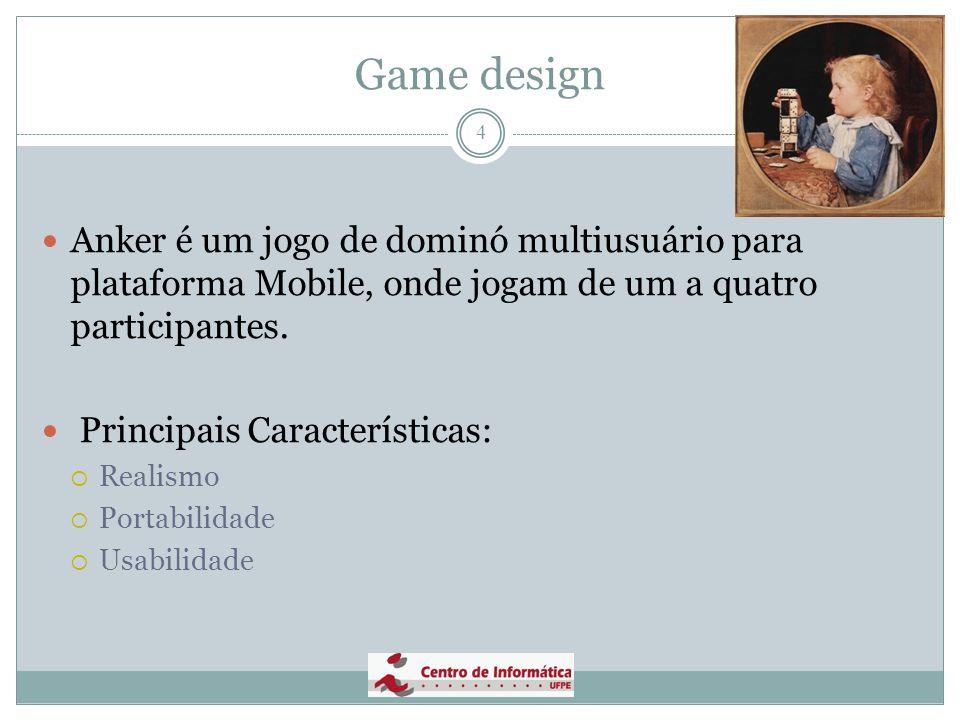 Game design Anker é um jogo de dominó multiusuário para plataforma Mobile, onde jogam de um a quatro participantes.
