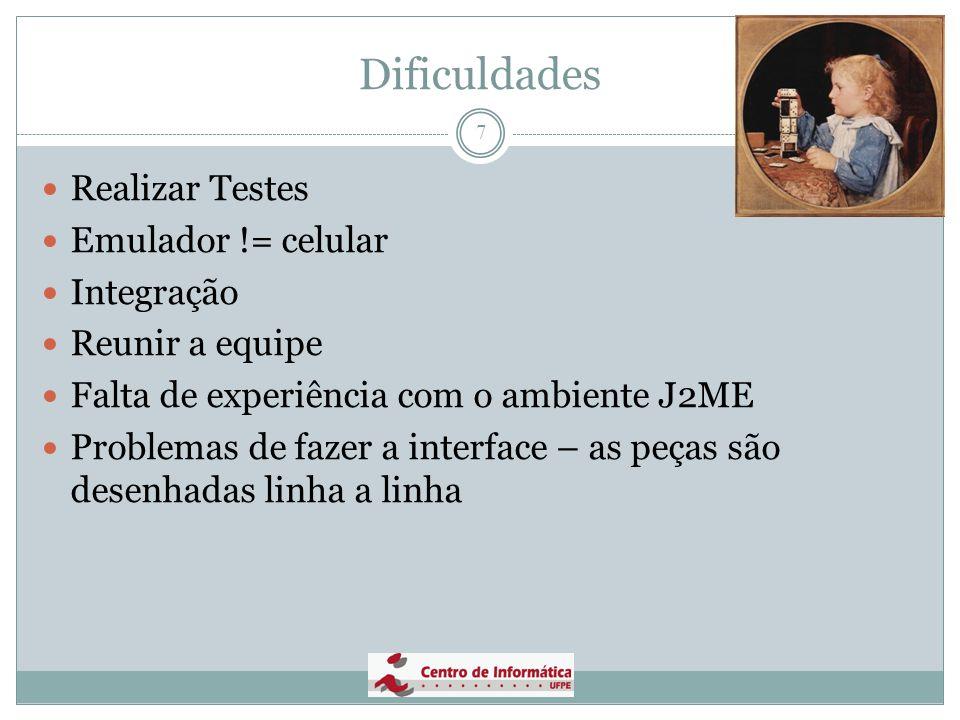 Dificuldades Realizar Testes Emulador != celular Integração