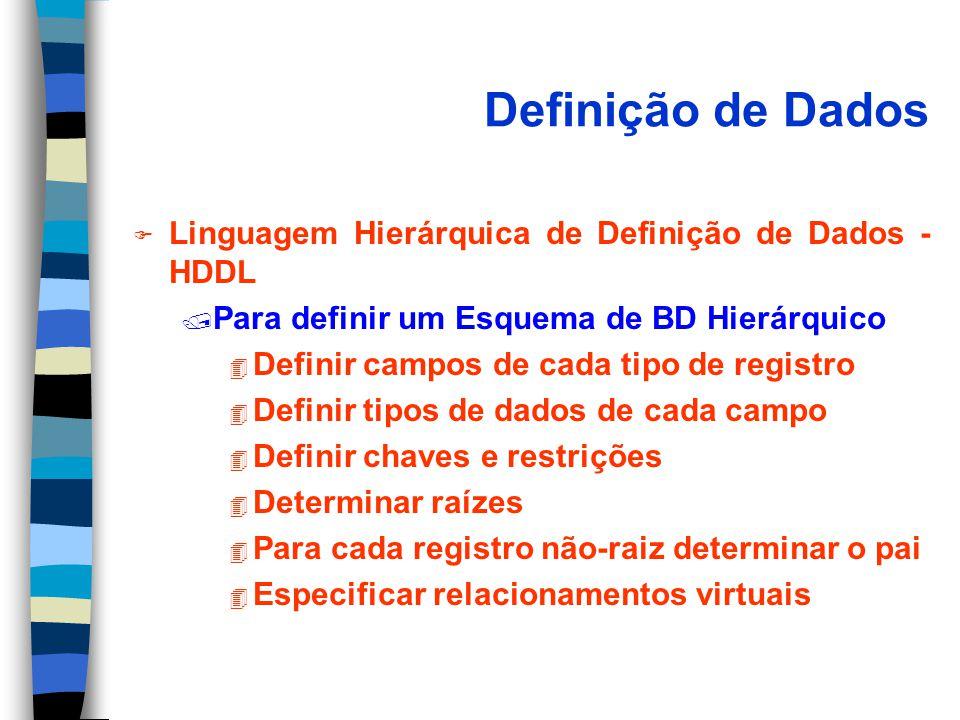 Definição de Dados Linguagem Hierárquica de Definição de Dados - HDDL