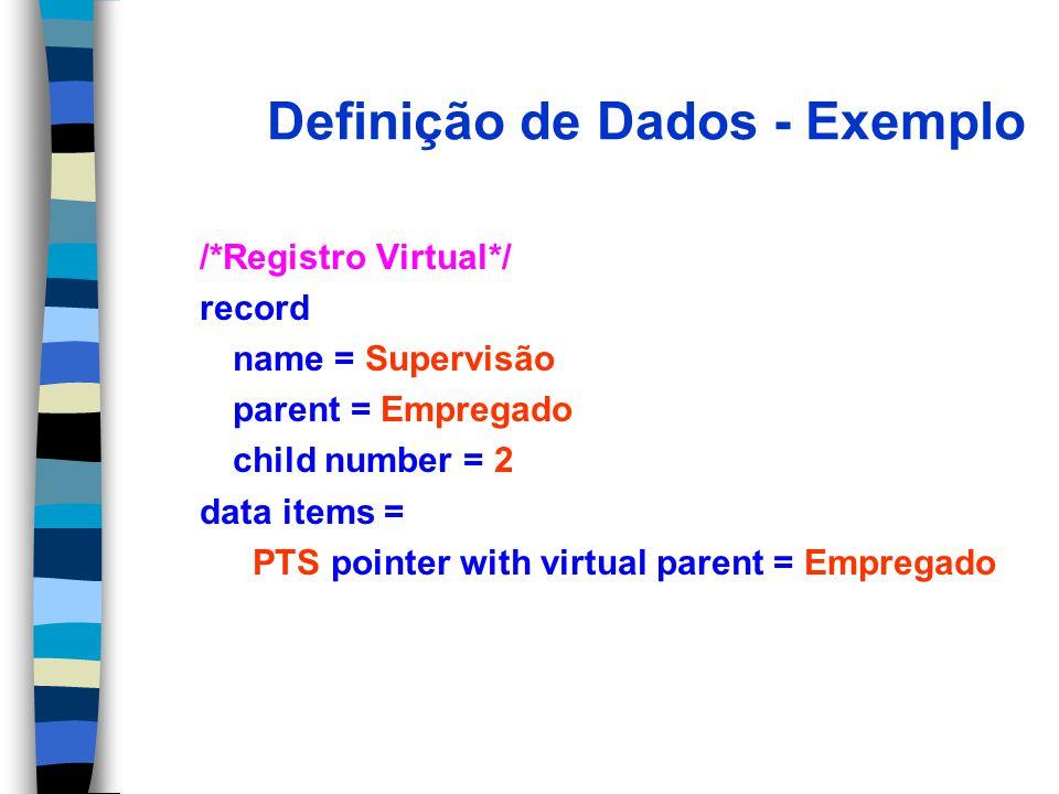 Definição de Dados - Exemplo