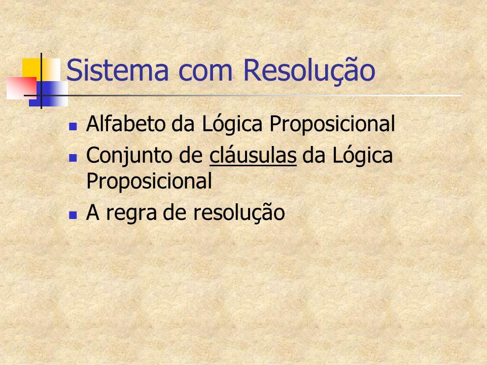 Sistema com Resolução Alfabeto da Lógica Proposicional