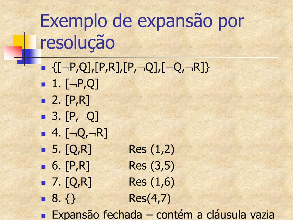 Exemplo de expansão por resolução