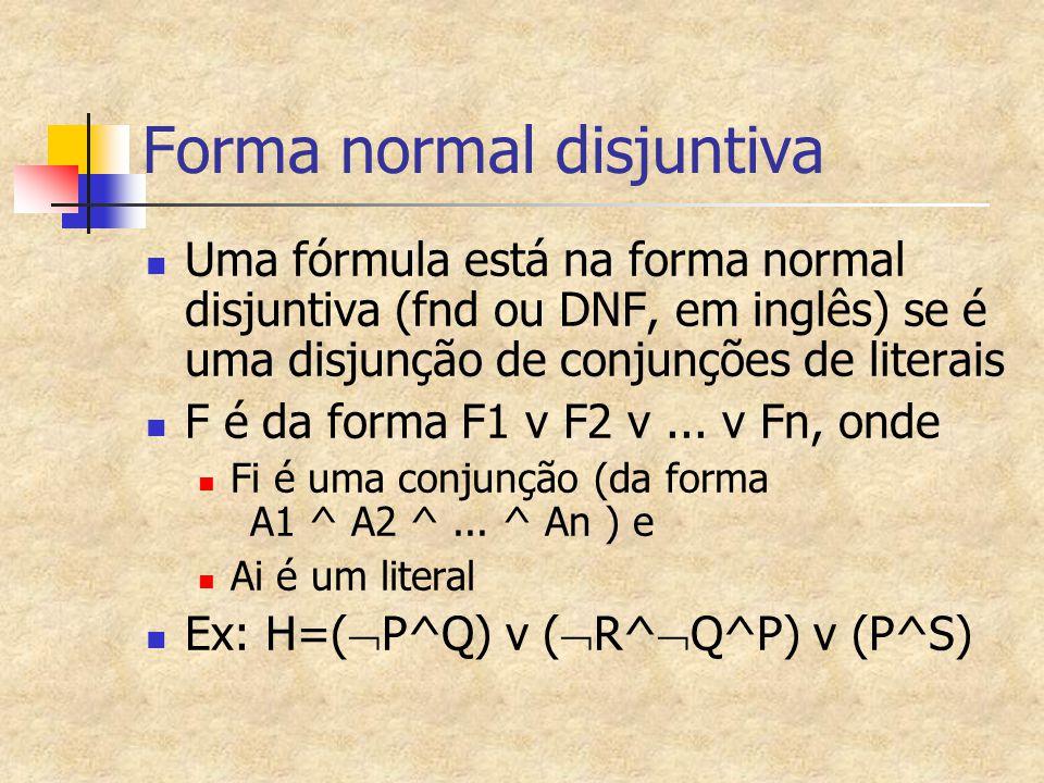 Forma normal disjuntiva
