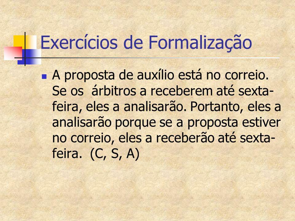 Exercícios de Formalização