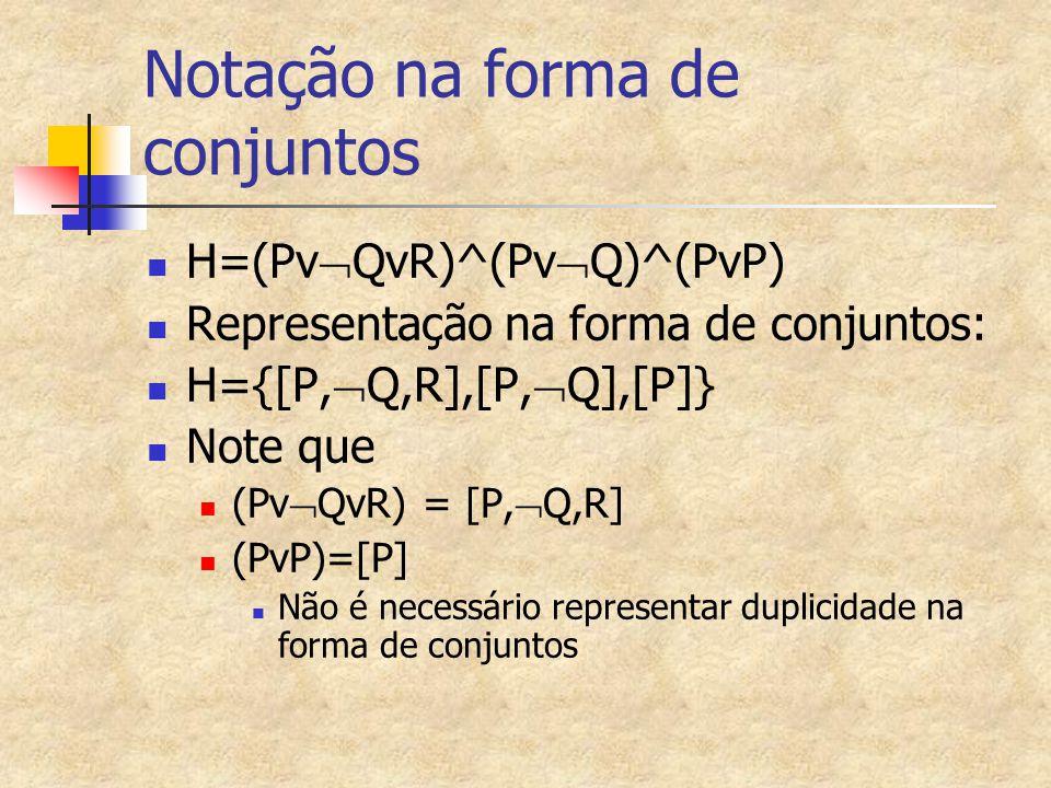 Notação na forma de conjuntos