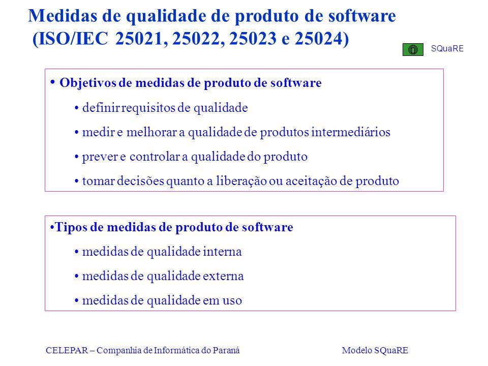 Medidas de qualidade de produto de software