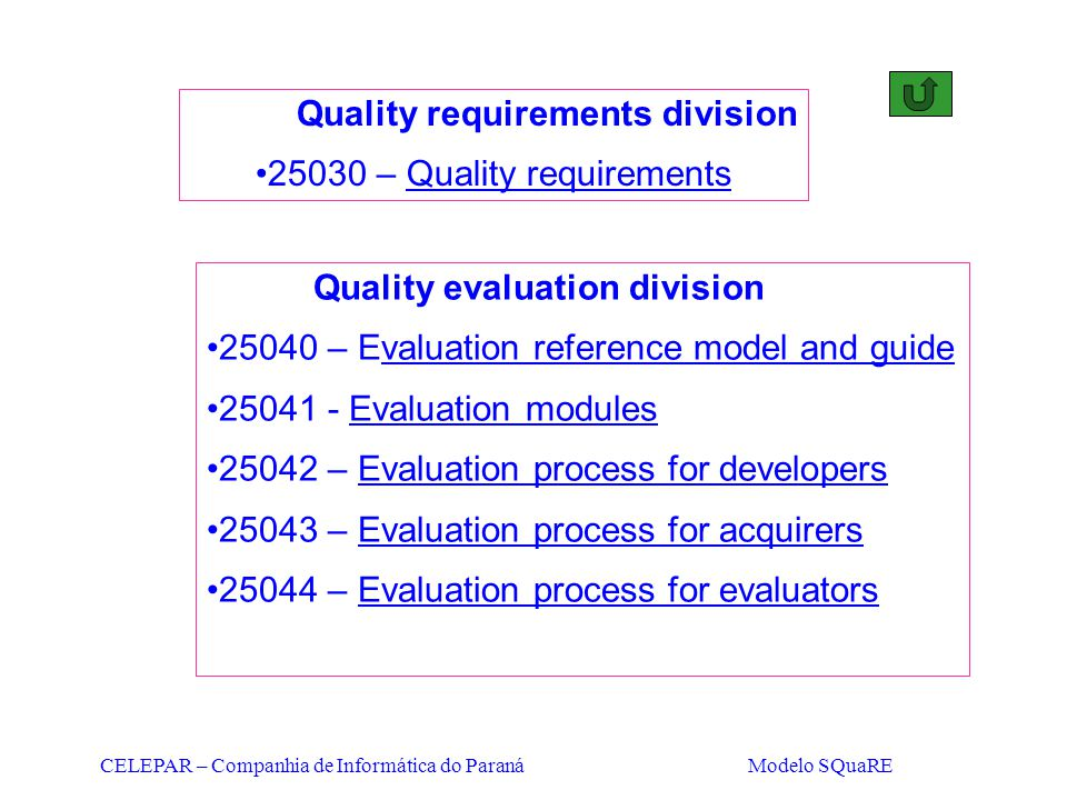 Quality requirements division