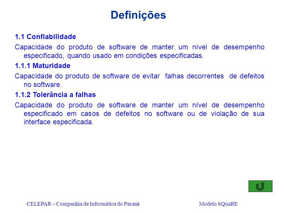 Definições 1.1 Confiabilidade