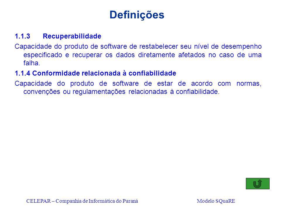 Definições 1.1.3 Recuperabilidade