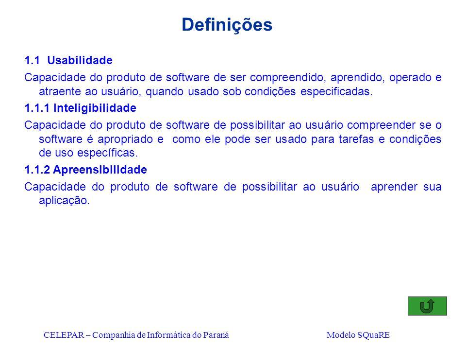 Definições 1.1 Usabilidade
