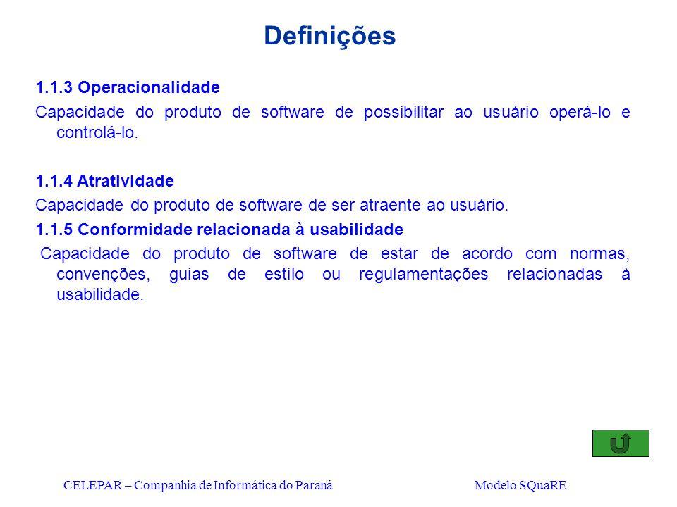 Definições 1.1.3 Operacionalidade