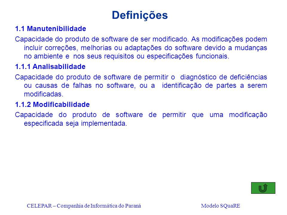 Definições 1.1 Manutenibilidade