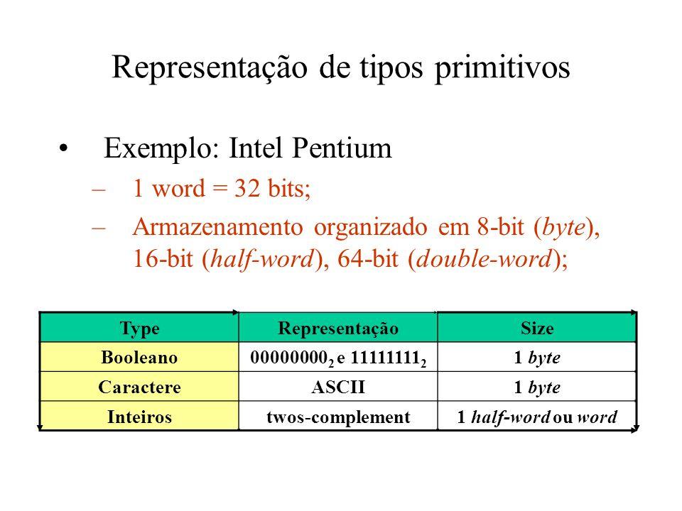 Representação de tipos primitivos