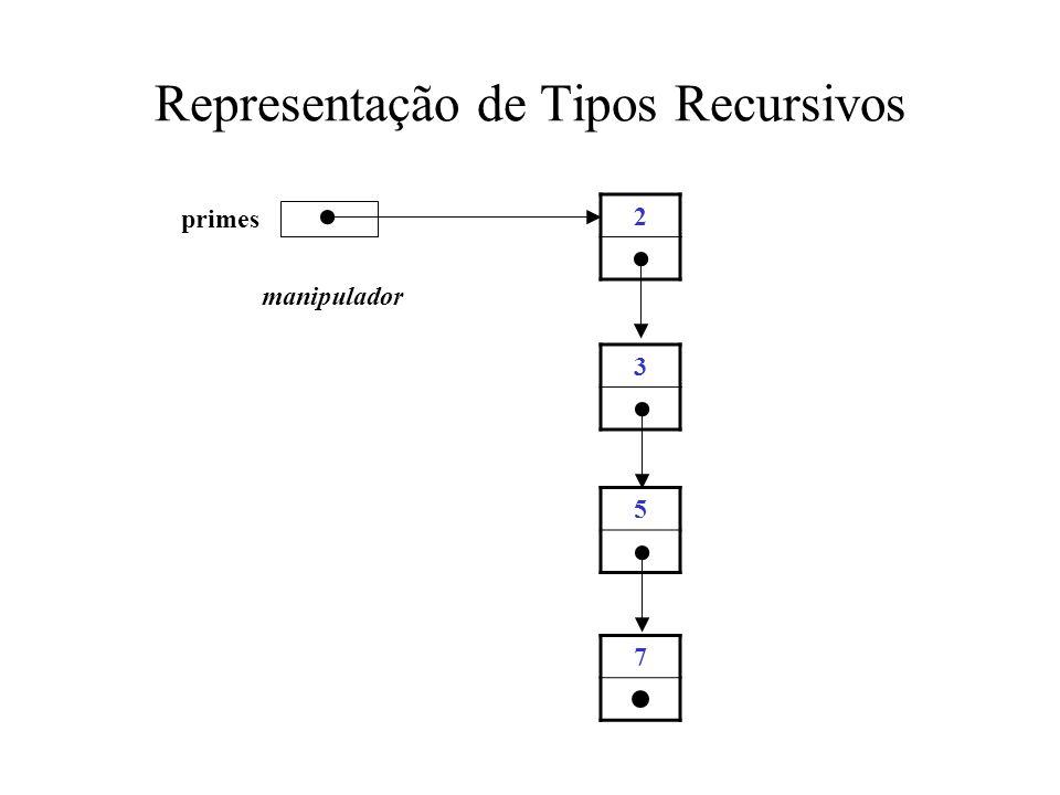 Representação de Tipos Recursivos