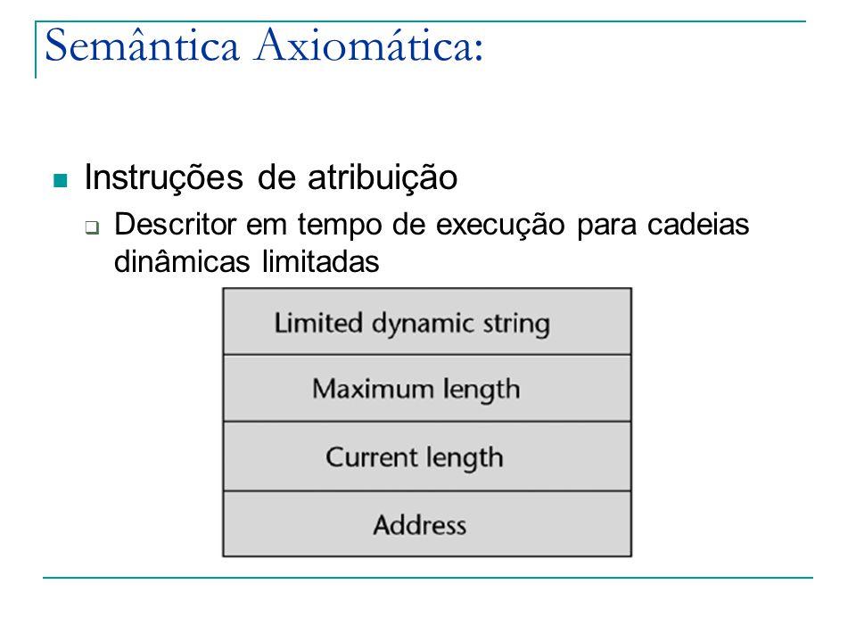 Semântica Axiomática: