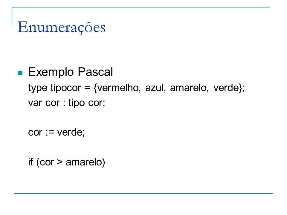 Enumerações Exemplo Pascal
