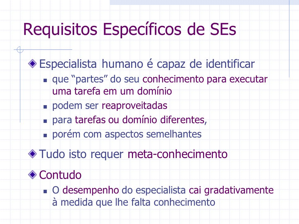Requisitos Específicos de SEs