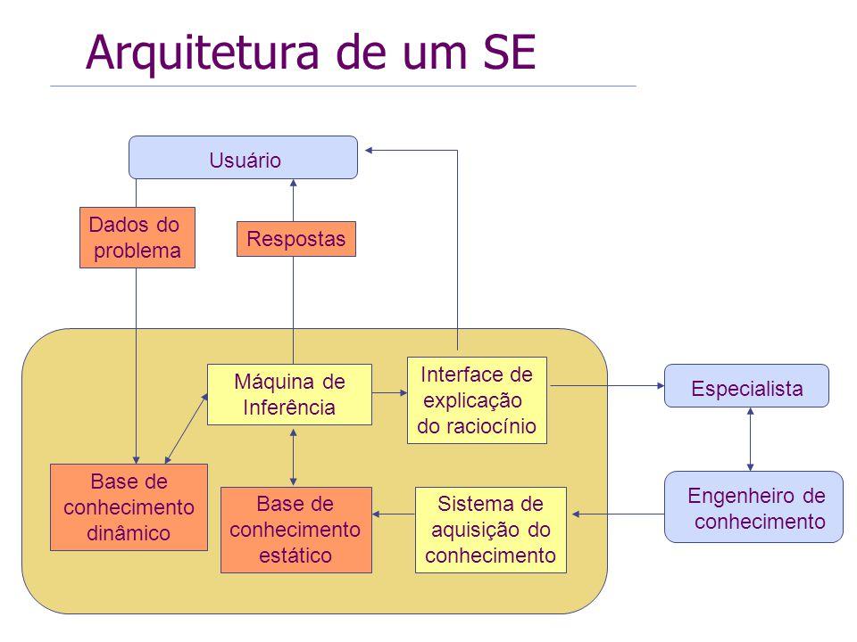 Arquitetura de um SE Usuário Dados do problema Respostas Interface de