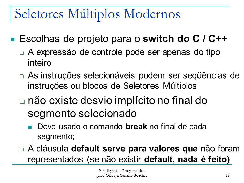 Seletores Múltiplos Modernos