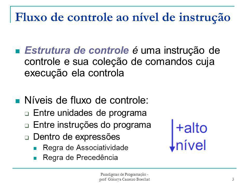 Fluxo de controle ao nível de instrução
