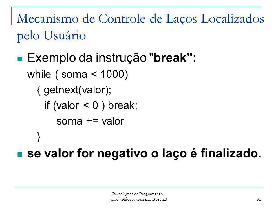 Mecanismo de Controle de Laços Localizados pelo Usuário
