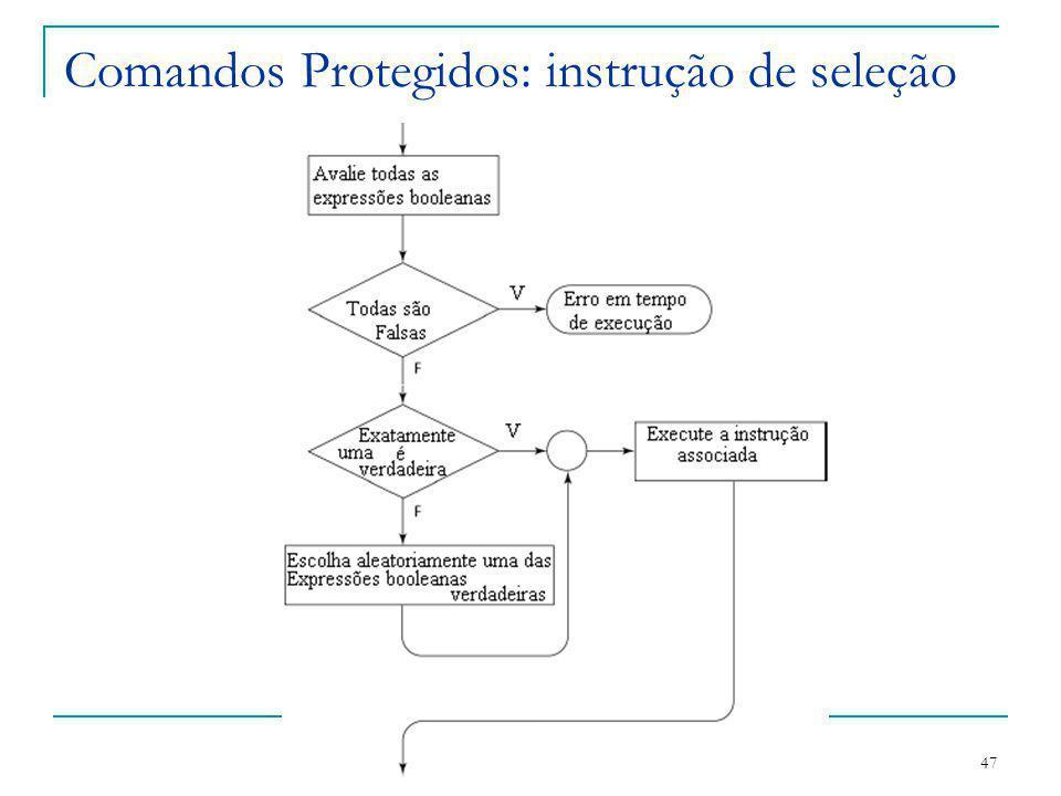 Comandos Protegidos: instrução de seleção