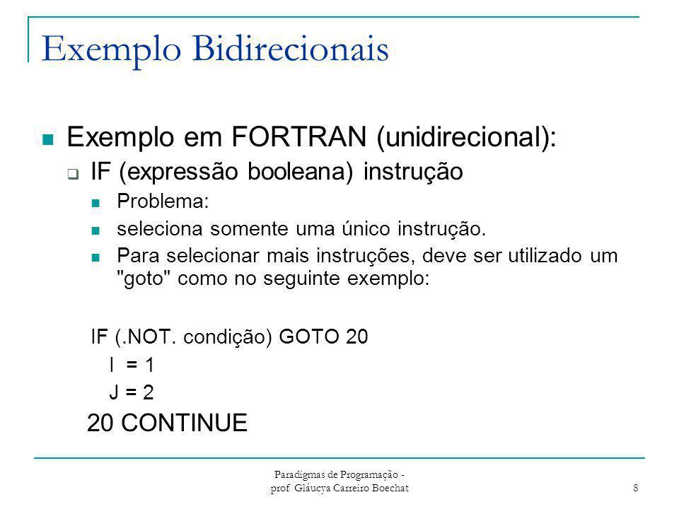 Exemplo Bidirecionais