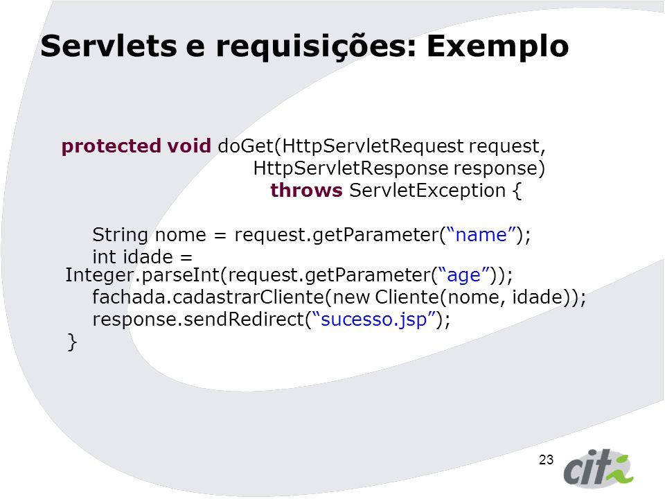 Servlets e requisições: Exemplo