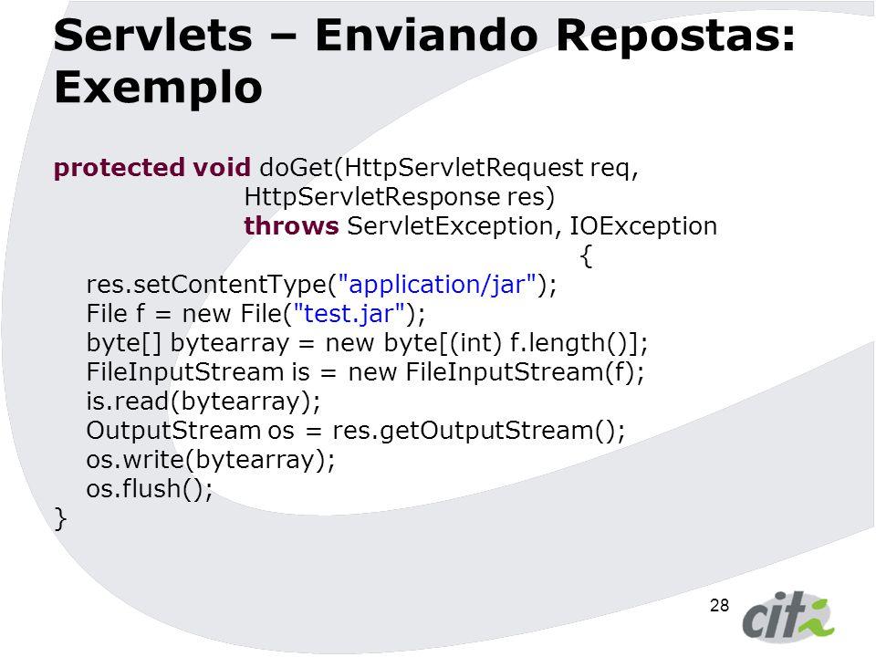 Servlets – Enviando Repostas: Exemplo