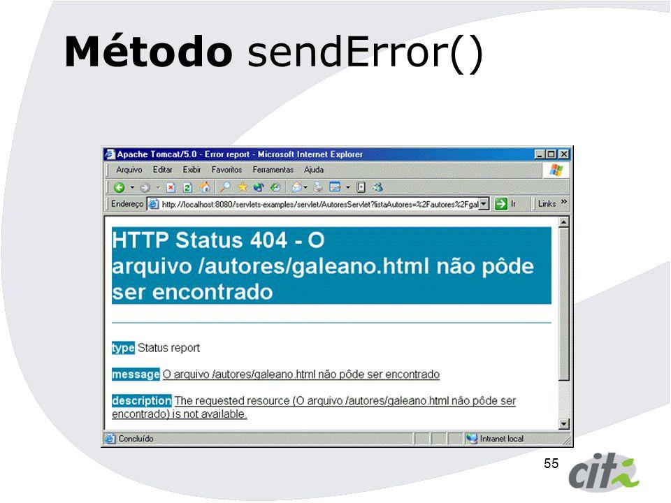 Método sendError()