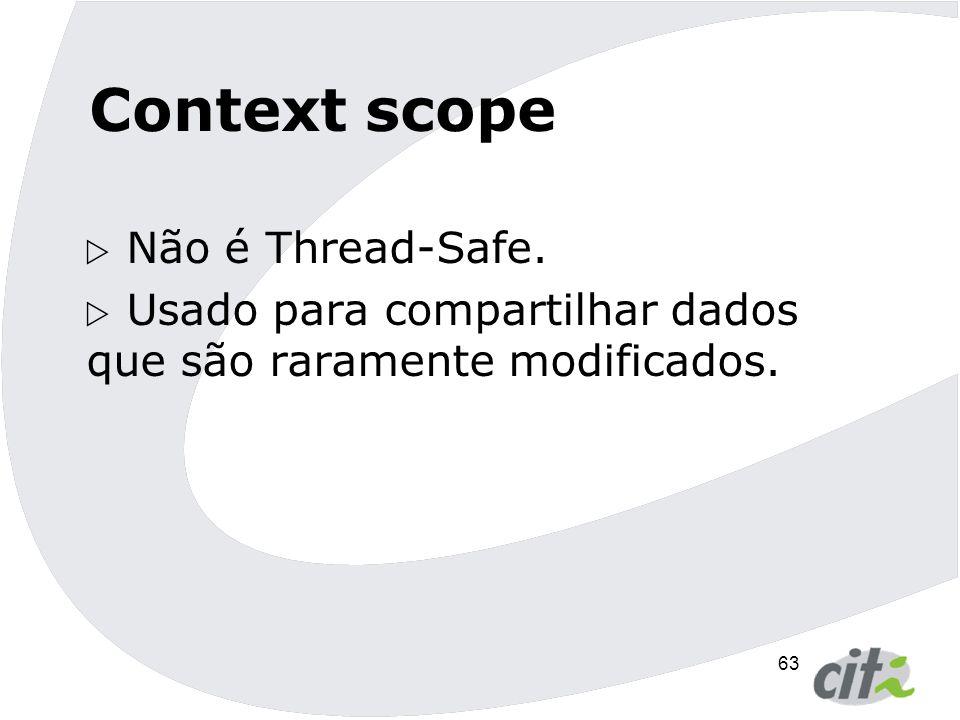 Context scope Não é Thread-Safe.