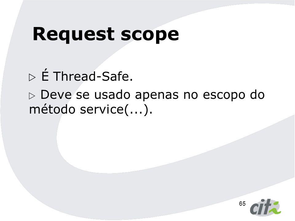 Request scope É Thread-Safe.