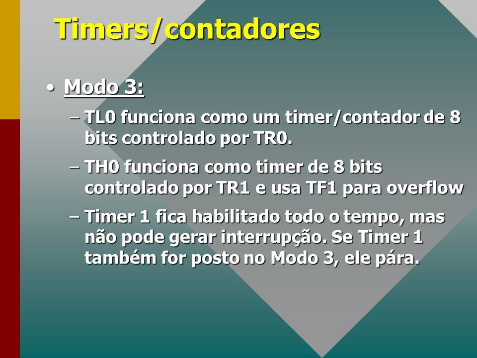 Timers/contadores Modo 3:
