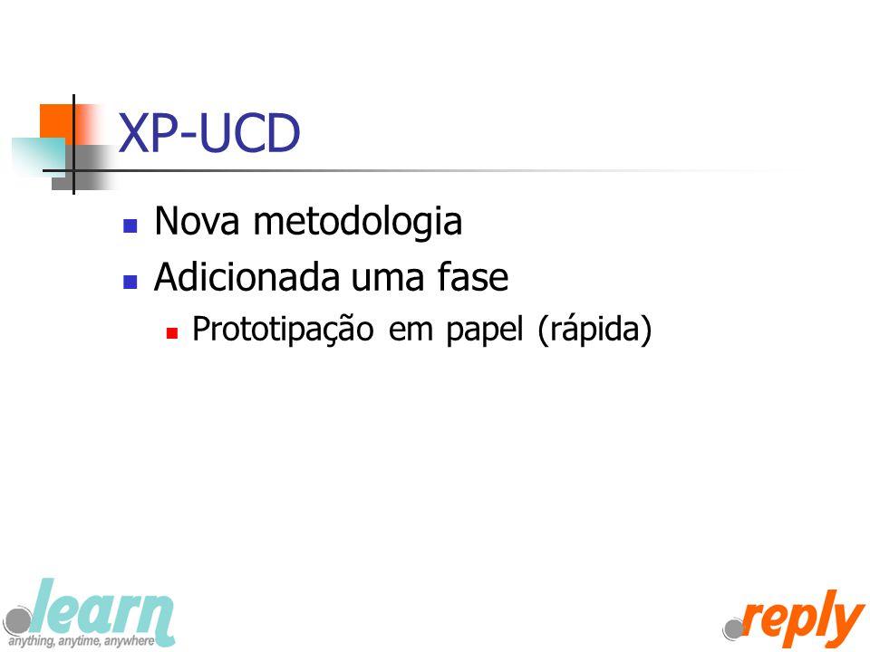 XP-UCD Nova metodologia Adicionada uma fase