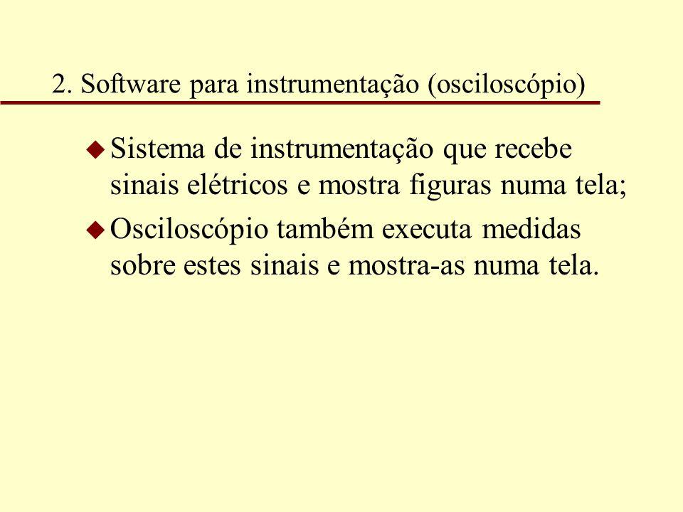 2. Software para instrumentação (osciloscópio)