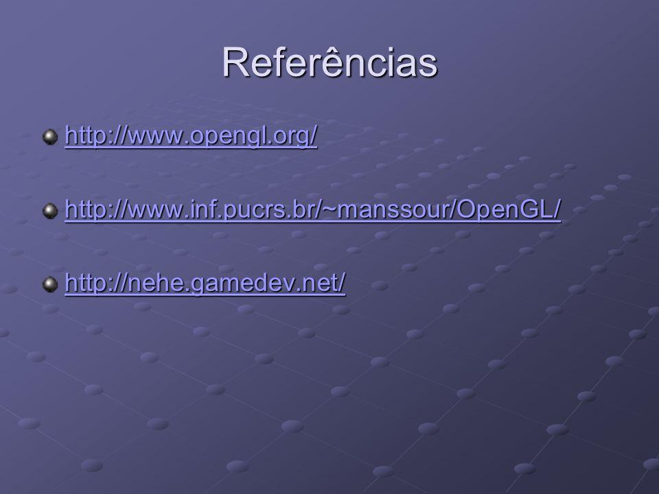 Referências http://www.opengl.org/