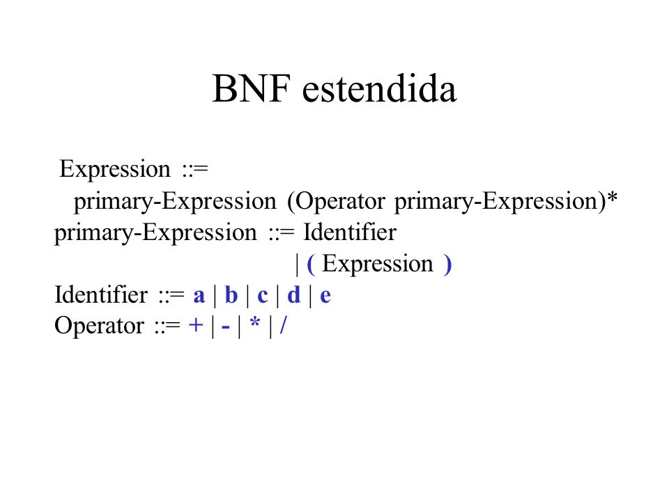 BNF estendida
