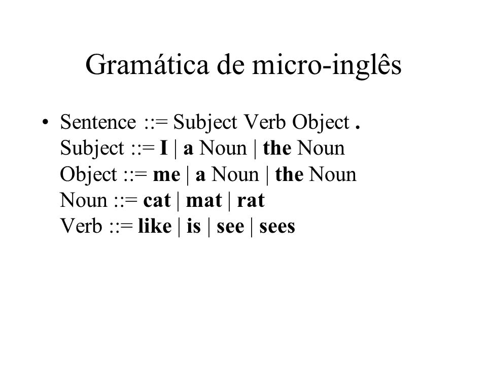 Gramática de micro-inglês