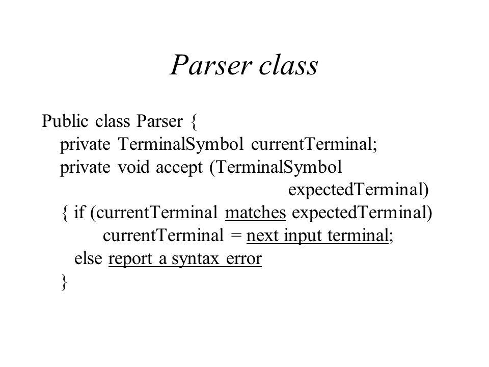 Parser class