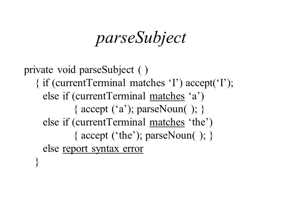parseSubject
