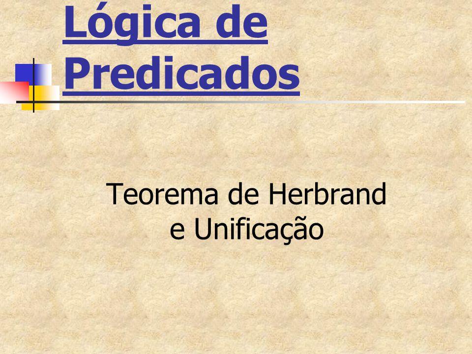 Teorema de Herbrand e Unificação