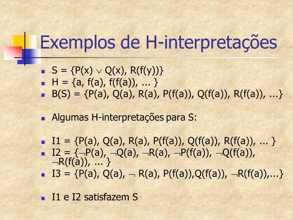 Exemplos de H-interpretações