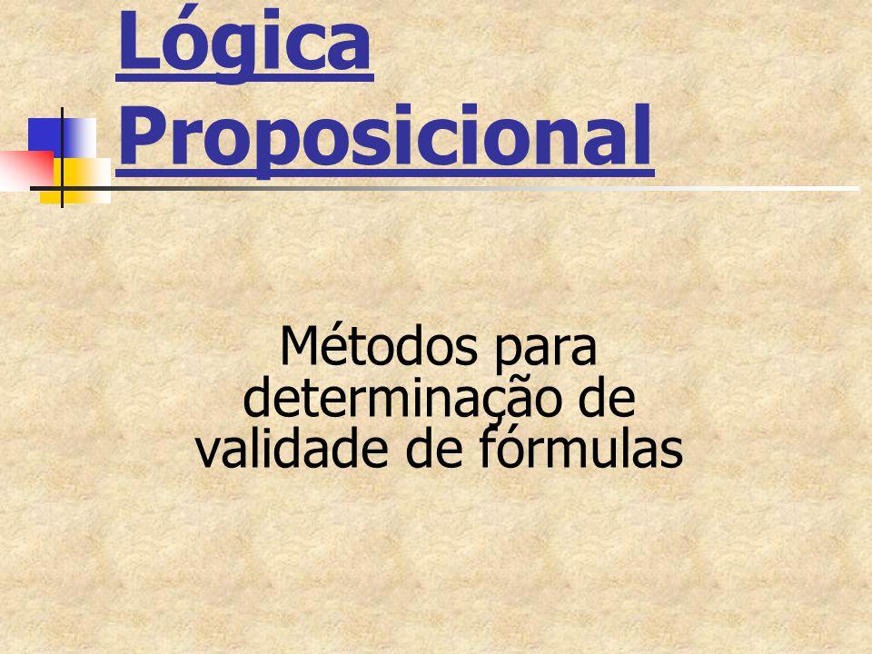Métodos para determinação de validade de fórmulas