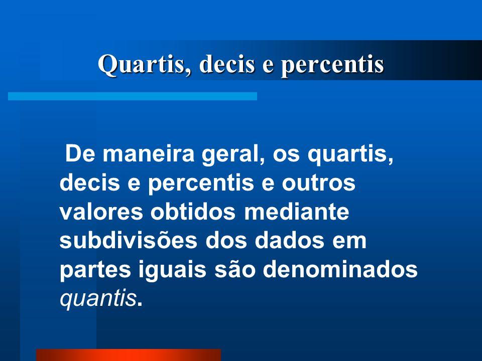 Quartis, decis e percentis