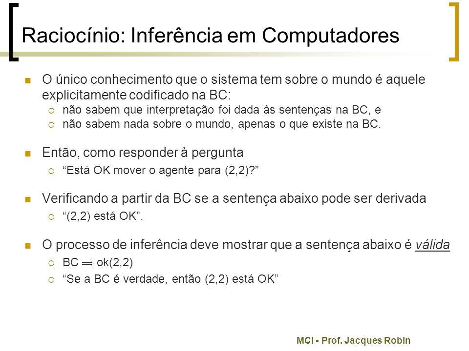 Raciocínio: Inferência em Computadores