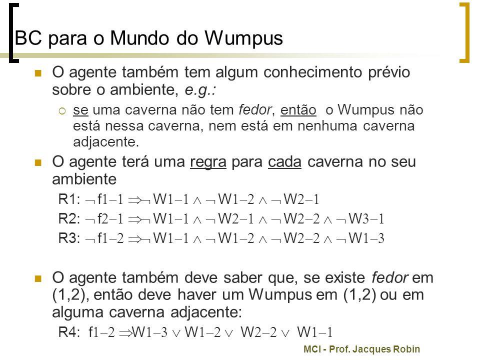 BC para o Mundo do Wumpus