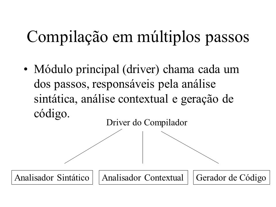 Compilação em múltiplos passos