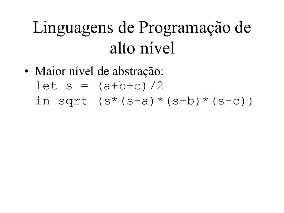 Linguagens de Programação de alto nível