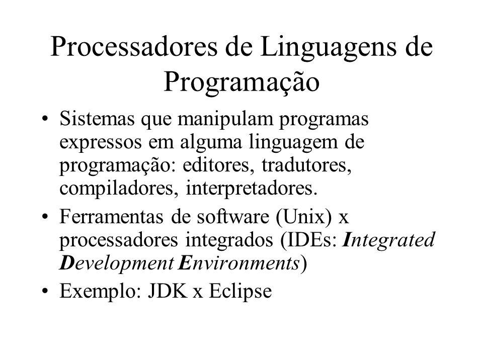 Processadores de Linguagens de Programação