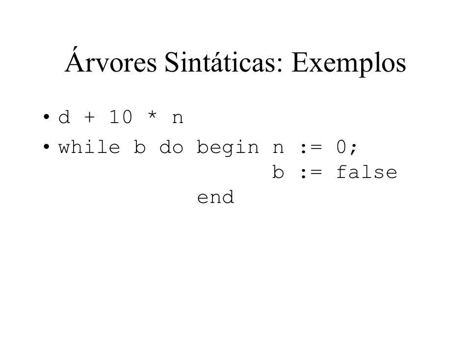 Árvores Sintáticas: Exemplos